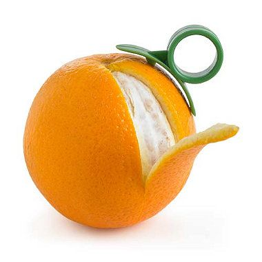 orange peeler - most amazing invention ever if you love oranges but detest peeling them.                                                                                                                                                                                 More