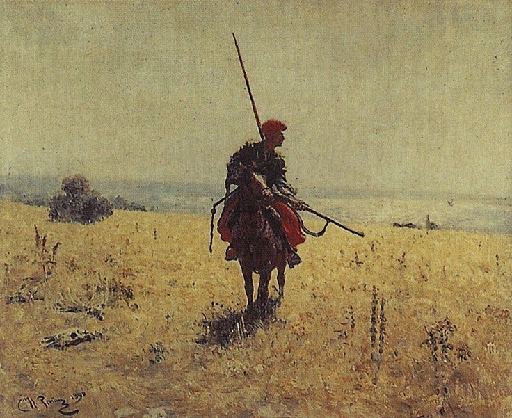 Cossack in the steppe - Ilya Repin