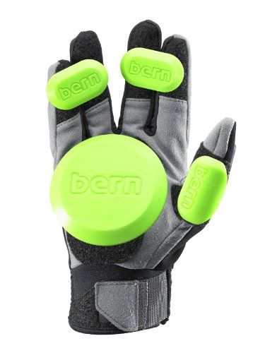 Bern Men's Haight Leather Full Finger Longboard Gloves