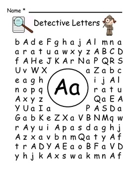 Detective Letters | Word Search, Letters and Student