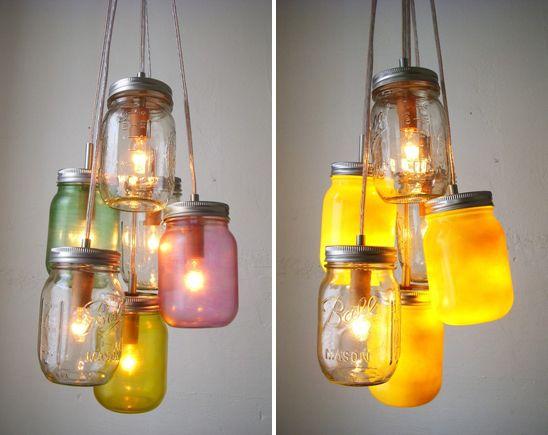 wedding lights, #wedding, #mason : Masons, Lighting Idea, Wedding Ideas, Jar Lights, Mason Jars, Diy, Craft Ideas, Crafts