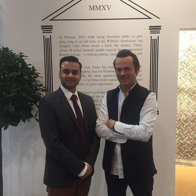 Meeting him is always a pleasure.  Friend and ace #designer, Luke Irwin.  Catching up at @domotex_hannover . . . #domotex #Germany #MakeInIndia #HomeDecor #Handmade #LuxuryInteriors #Interior #Carpets #Rugs #InteriorDecor #Flooringr