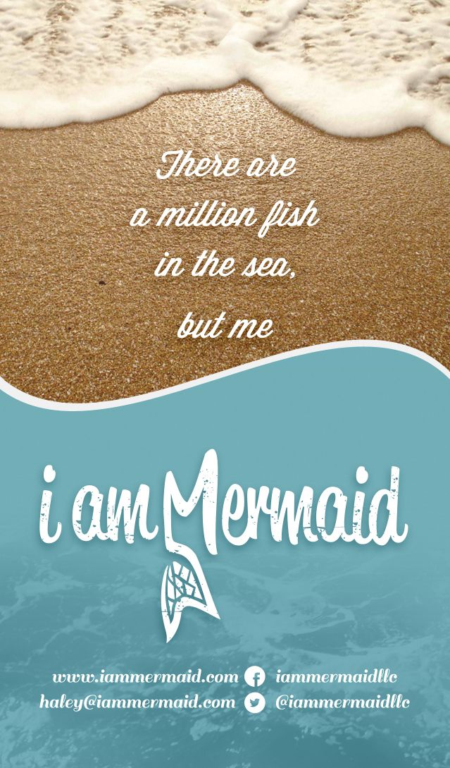 There are a million fish in the sea but you mermaid are for What kind of fish am i