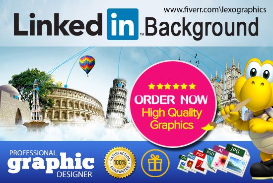 design professional LinkedIn background cover by lexographics