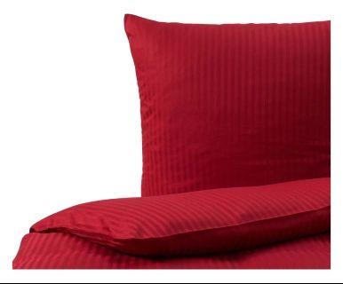 Satin-Bettwäsche Stripe, rot, 2-tlg., 135 x 200 cm
