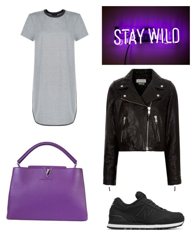 """""""Pop of purple"""" by shanisiavniel on Polyvore featuring mode, New Look, Étoile Isabel Marant, New Balance en Louis Vuitton"""