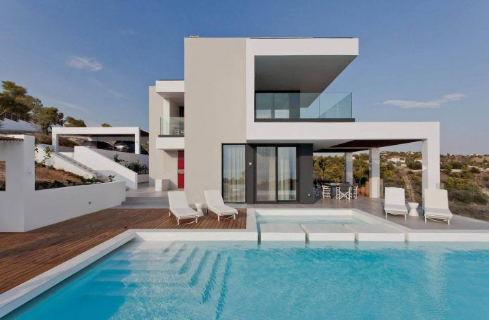 "Contemporary villa overlooking the Mediterranean sea located in Porto Heli, the ""Hamptons"" of Greece - CAANdesign"