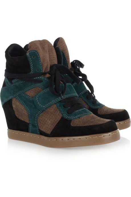 ASH Cool suede wedge high-top sneakers