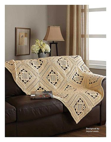 Add style to your home décor with 7 distinctive throws! These intriguing designs will inspire you to crochet one for every room in your home.  http://www.maggiescrochet.com/collections/new/products/the-best-of-mary-maxim-afghans-at-home