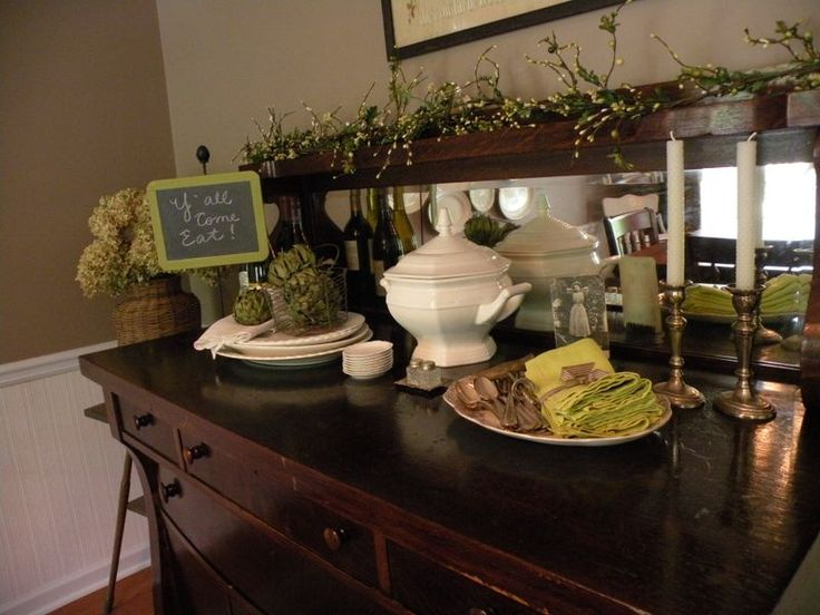 17+ best images about Buffet displays on Pinterest Antique buffet, Entryway and Antique sideboard