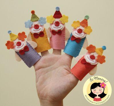 cute clown finger puppets
