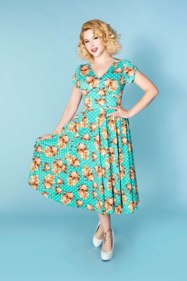 Roxy Dress in Mint