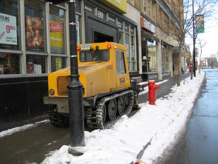 Sidewalk snowplow, Montreal