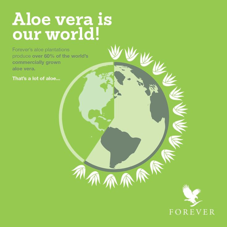 Forever's aloe plantations produce over 60% of the world's commercially grown aloe vera.  That's a lot of aloe...