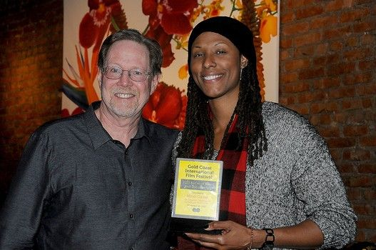 """Oscar Nominee Rick Goldsmith and WNBA superstar Chamique Holdsclaw, the subject of """"Mind Game,"""" which won the Best Documentary award at 5th Annual Gold Coast Intl Film Festival."""