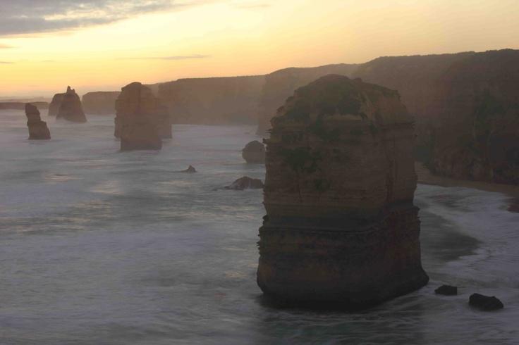 The 12 Apostles at dusk, Great Ocean Road, Victoria