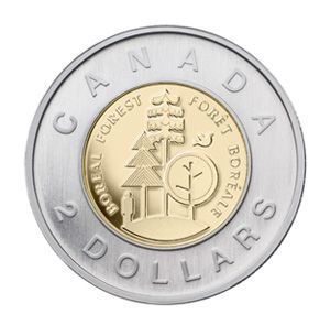 Canada's Two-Dollar Boreal Forest Coin