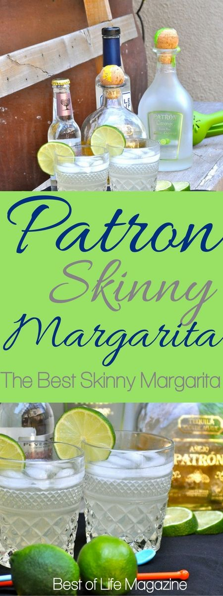 The quest for the best skinny margarita is over now that you have this Patron skinny margarita recipe with Patron Lime Citronge.