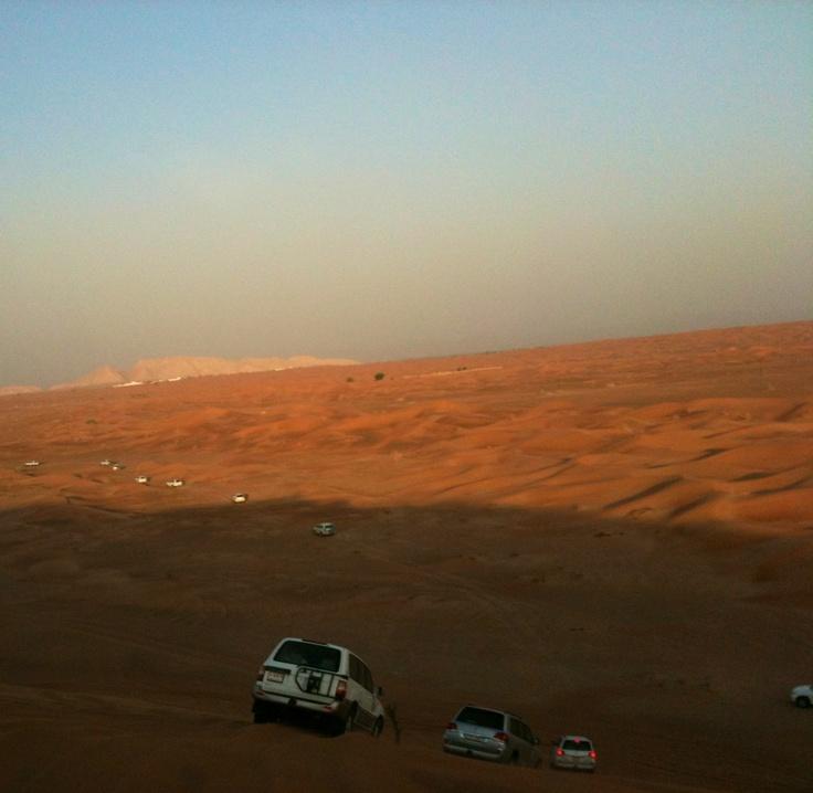 Desert safari, riding sand dunes