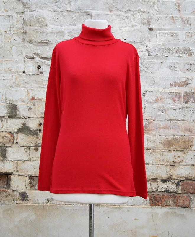Polo Neck Top - Ruby | Women's Fashion | Dresses, Tops and more | Et La Mer