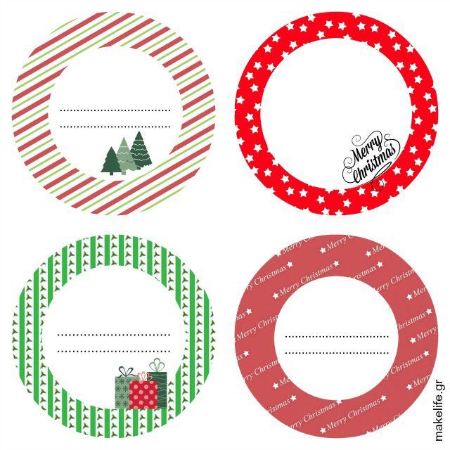 Δωρεάν Εκτυπώσιμες Ετικέτες Χριστουγεννιάτικες