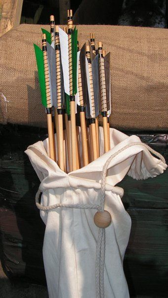 Hand made hand fletched and hand painted arrows by Stuart Gelder , bags soon available too
