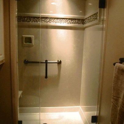 Cultured Marble Shower Update Ideas - Can you add decorative detail to an existing cultured marble shower wall?
