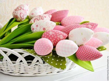 """Букеты ручной работы. Тюльпаны """"розовый букет"""". ColormaniaDecor. Интернет-магазин Ярмарка Мастеров. Тюльпаны, цветы из ткани, букет, лён"""