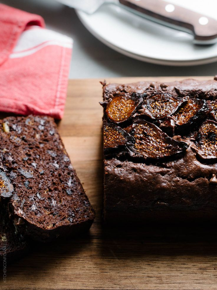 Chocolate Banana Fig Bread  - you won't be able to resist a slice!