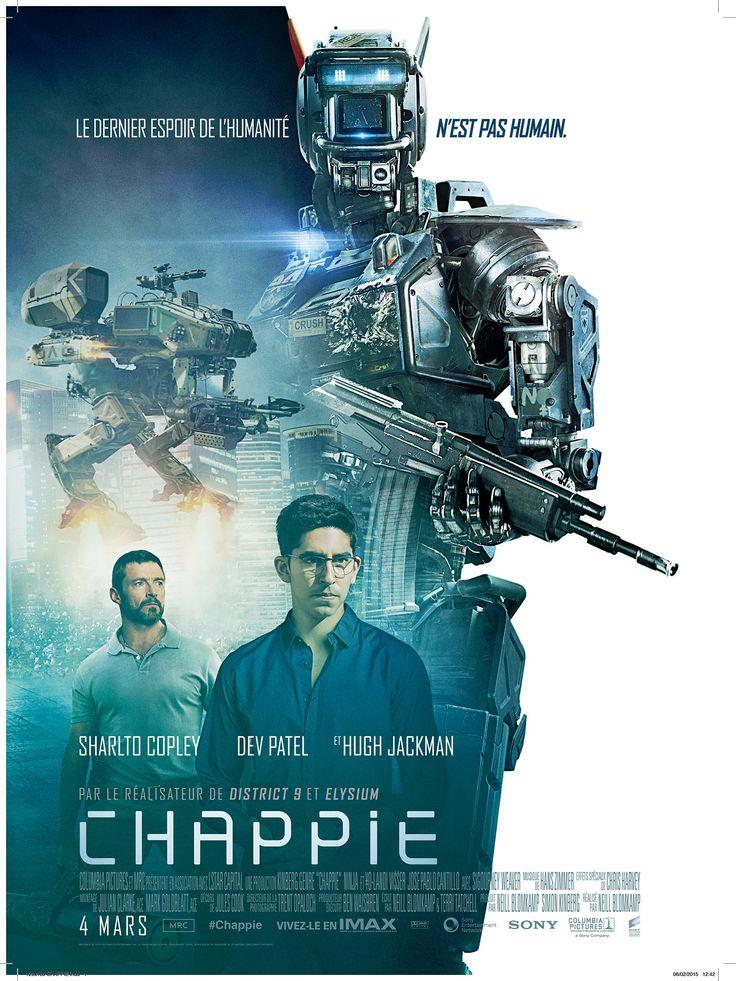 Chappie est un film de Neill Blomkamp avec Sharlto Copley, Dev Patel. Synopsis : Dans un futur proche, la population, opprimée par une police entièrement robotisée, commence à se rebeller. Chappie, l'un de ces droïdes policiers, es