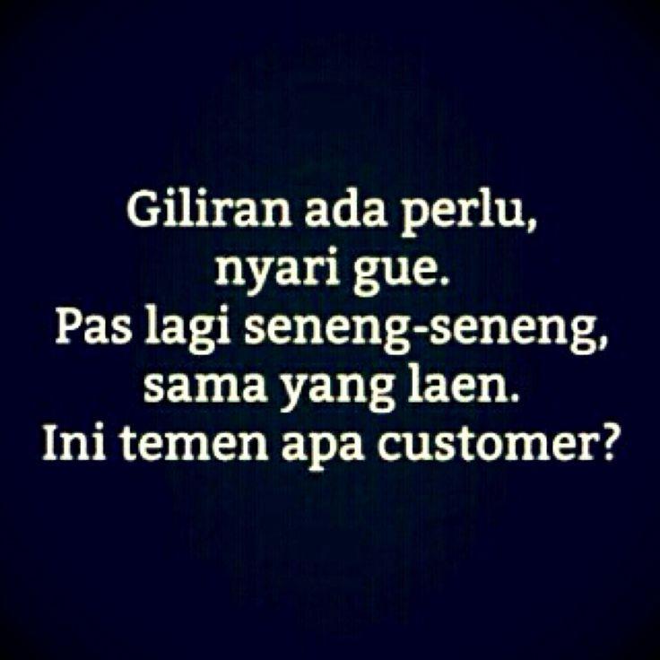 Temen apa customer?