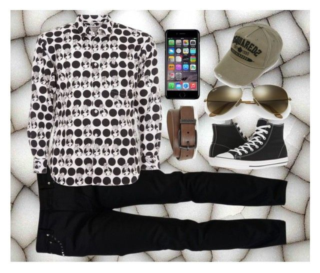 """""""Dots for Guys"""" by jillsjoyagol ❤ liked on Polyvore featuring Valentino, Comme des Garçons SHIRT, Converse, Levi's, Off-White, Ray-Ban, Dsquared2, men's fashion, menswear and PolkaDots"""