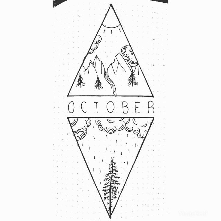 October Bullet Journal Monatliches Deckblatt – #Bullet #Cover #Journal #Monatlich #Oktober