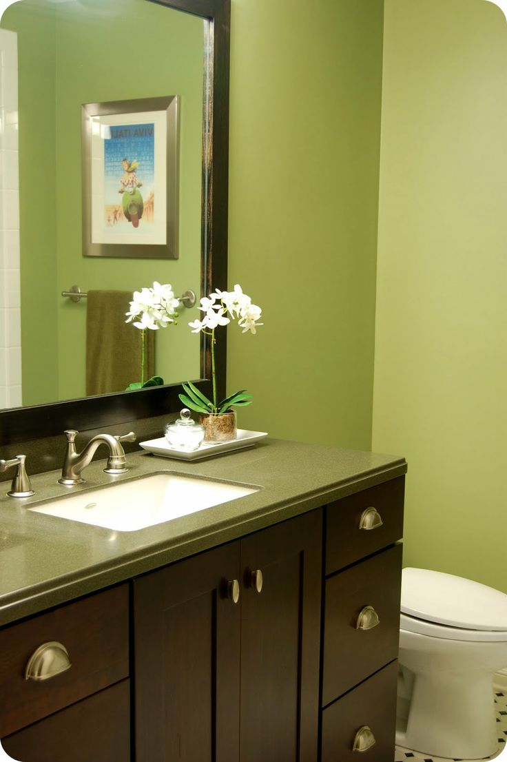 Green paint colors for bathroom - Benjamin Moore Hillside Green Wall Color Love This Color For Basement Bath