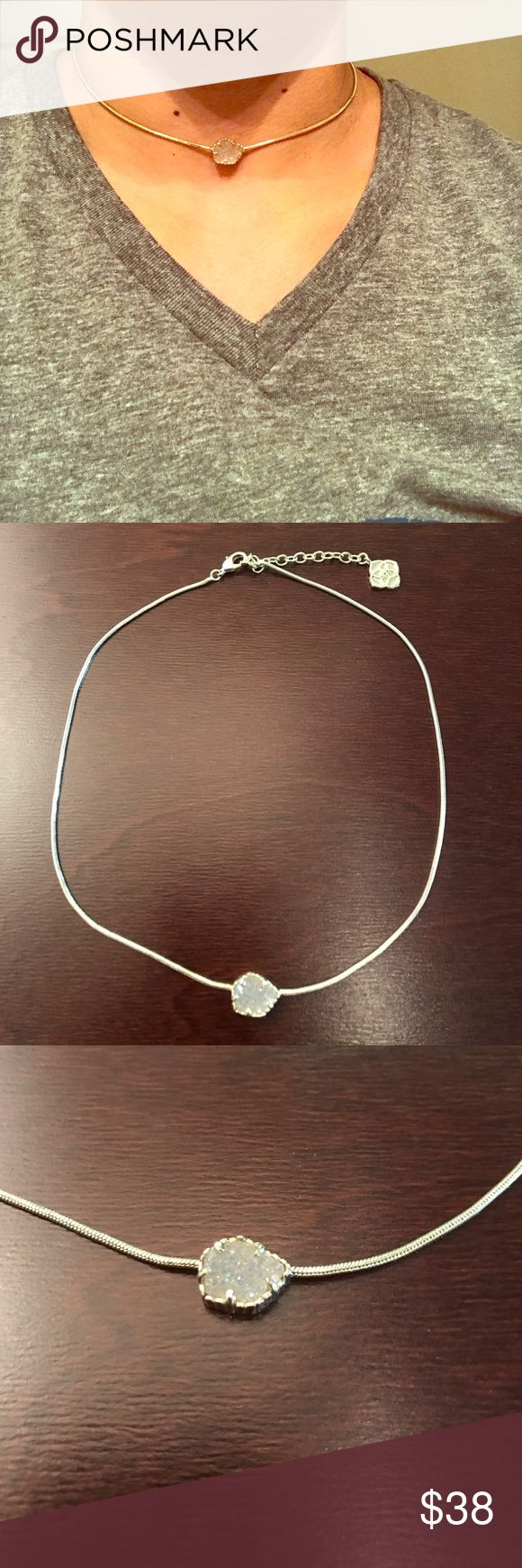 Kendra Scott Druzy gold choker w/ adjustable clasp Kendra Scott Druzy gold necklace with adjustable clasp. Worn a handful of times, like new and in great condition. Kendra Scott Jewelry Necklaces