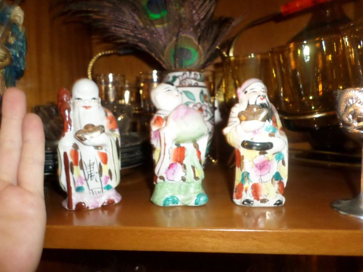 Miniature figurines made by porcelain.The 3 wise men.Vintage-rare-Antique by StrangeAttachments on Etsy
