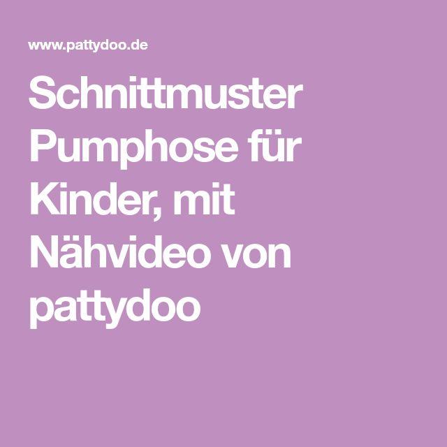 Schnittmuster Pumphose für Kinder, mit Nähvideo von pattydoo