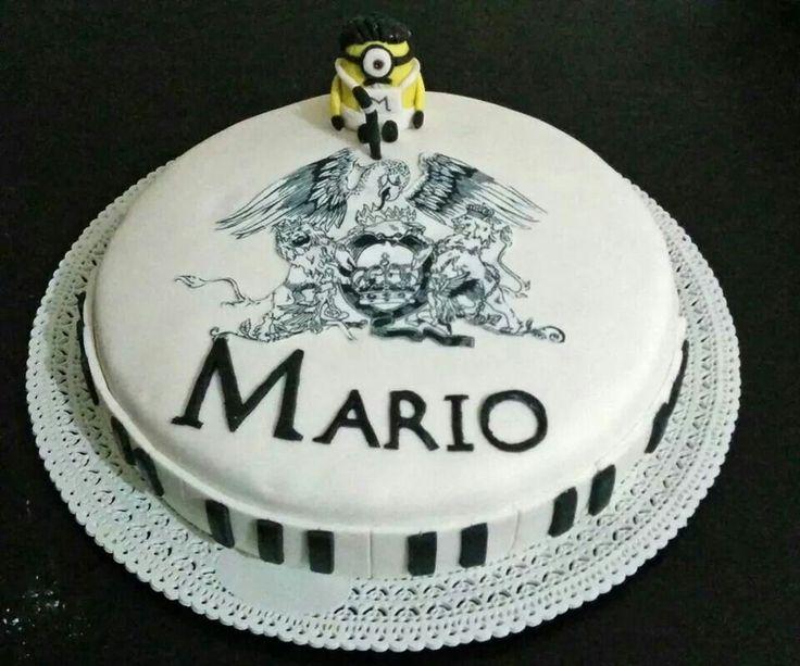 Cake design torta queen - minion freedy mercury