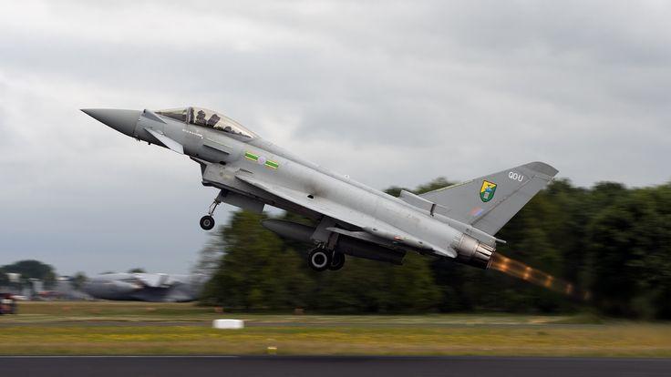 Royal Air Force (RAF) Eurofighter EF2000 Typhoon Aircraft.