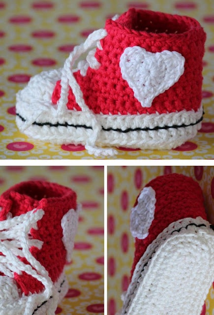 Cute baby crochet shoes