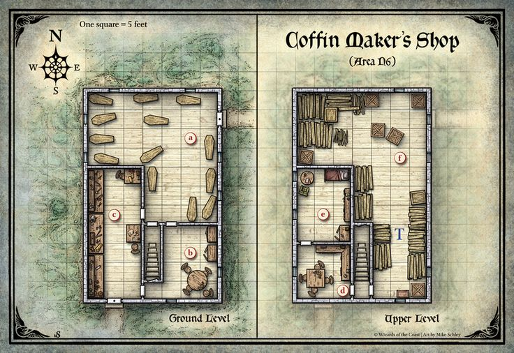 Curse of Strahd; Coffin Maker's Shop (Digital DM & Player Versions) $1.75