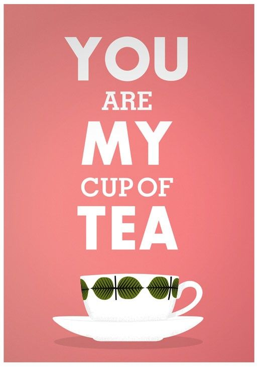 Tea Print Love print Valentines gift Kitchen art Tea by handz