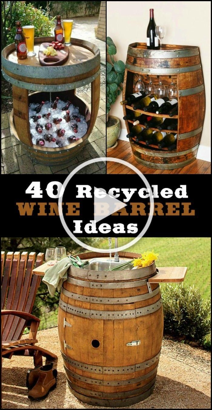 36 Awesone Recycled Wine Barrel Ideas Weinfass Tisch Fass Mobel Weinfass Bar
