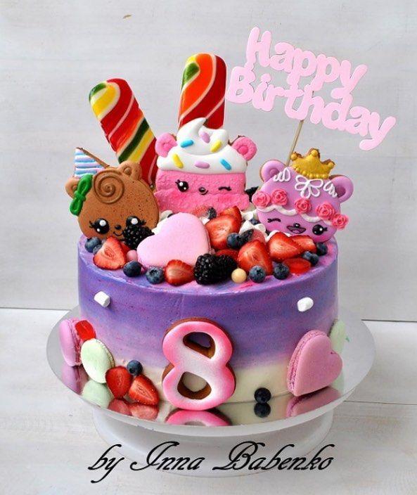 We  this Num Noms inspired cake! : @byinnababenko  #numnoms #smellSOdelicious #collect #collectible #kawaii #kawaiitoy #cutetoy #cake #birthdaycake #numnomscake