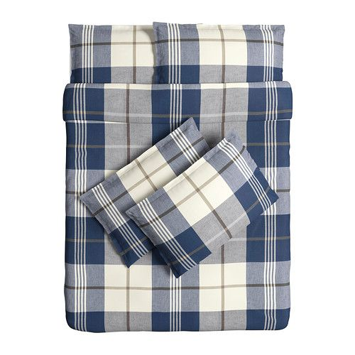 KUSTRUTA Quilt cover and 4 pillowcases - 200x200/50x80 cm - IKEA