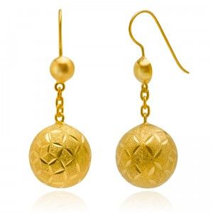 Lustrous Nice Gravity Golden Earrings - MettaGems | Natural Gemstone Jewelry, Direct from manufacturers  18K Solid Gold