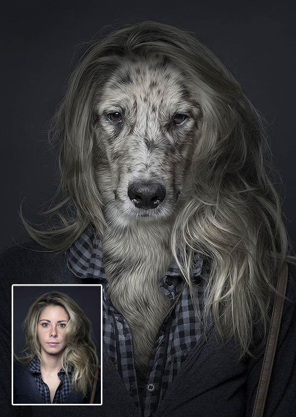 Underdogs, un projet imaginé par le photographe Sebastian Magnani,qui s'amuse à habiller des chiens comme leurs maîtres, révélant encore un peu plus les