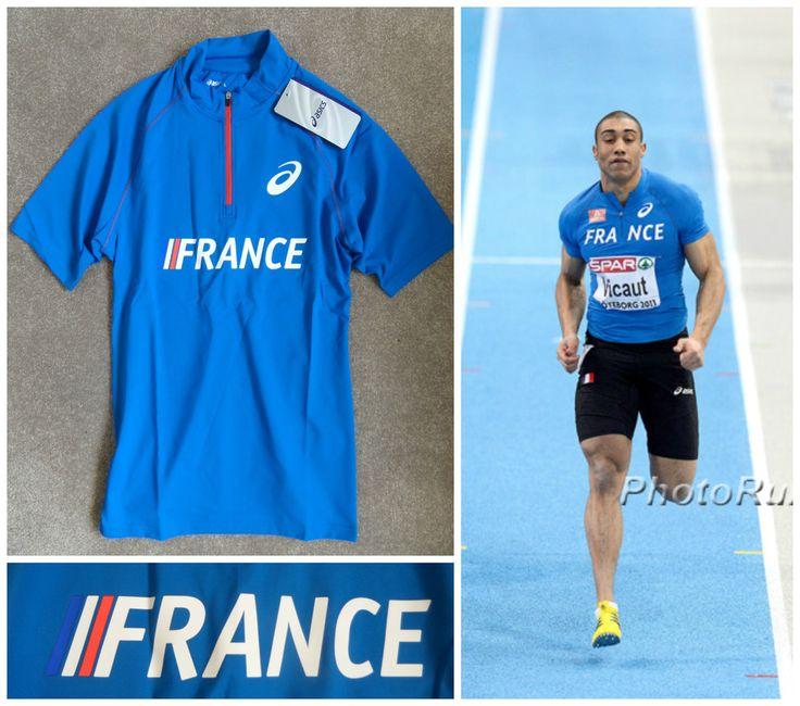 ASICS Pro Elite FRANCE Running Singlet Vest Track And Field Athletics Olympic  #Asics #RunningSingletVest