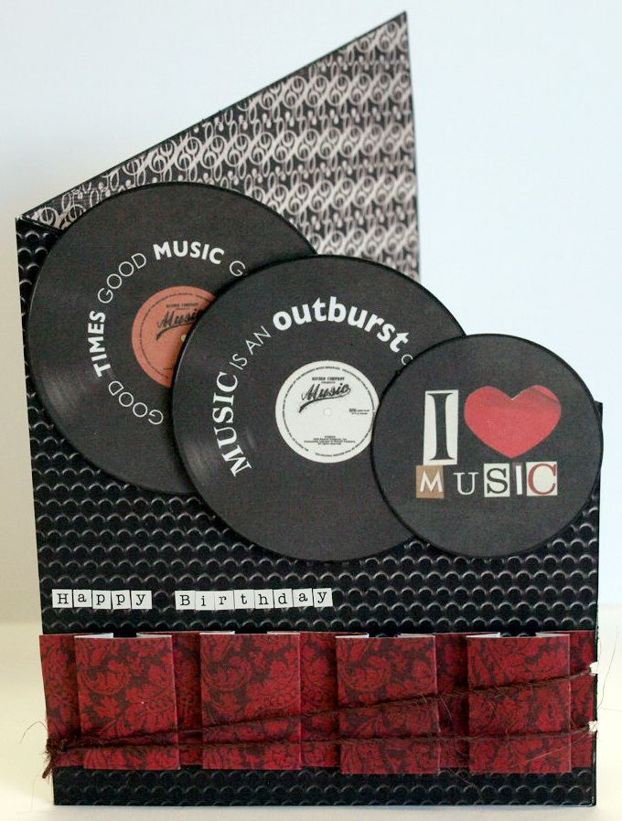 """I Love Music"" Card (view 1) by Collette Mitrega DT Member for Kaisercraft using…"