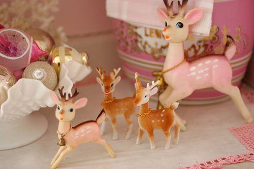 Vintage reindeer, retro christmas